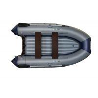 Надувная моторная лодка ФЛАГМАН 280 Серо-синяя