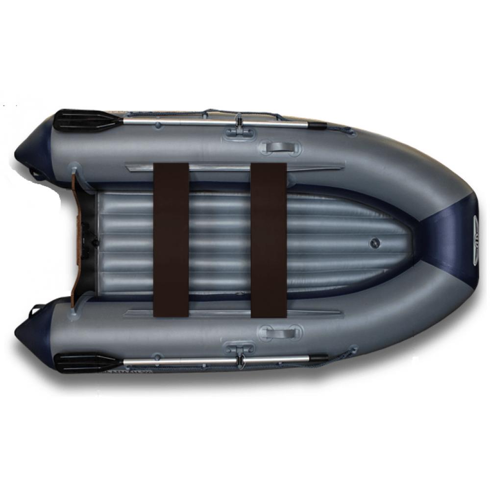 Надувная моторная лодка ФЛАГМАН 300 Серо-синяя