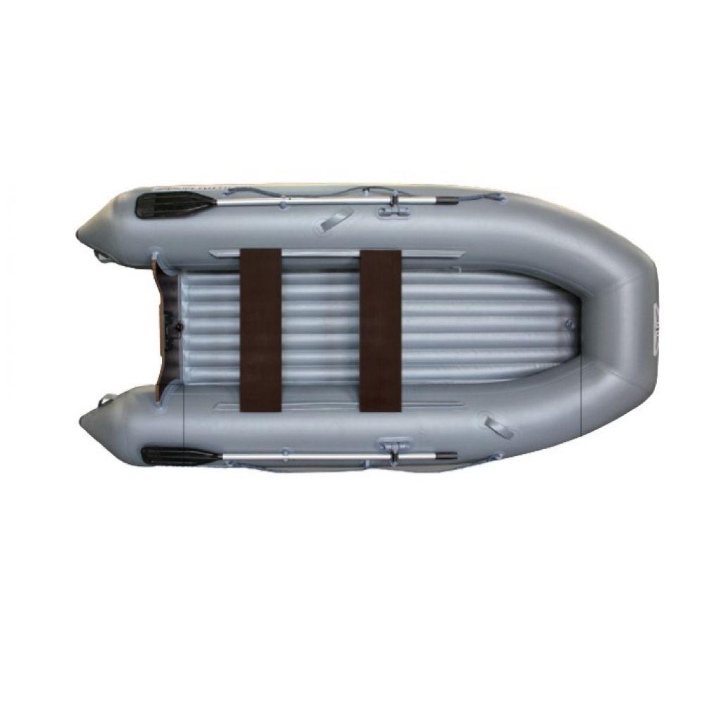 Надувная моторная лодка ФЛАГМАН 320 Серо-синяя