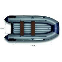 Надувная моторная лодка ФЛАГМАН 330 U Серо-синяя