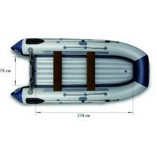 Надувная моторная лодка ФЛАГМАН 360 U Серо-синяя