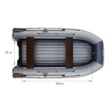 Водометная надувная лодка ФЛАГМАН DK 380 Jet Серо-синяя