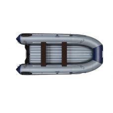 Надувная моторная лодка ФЛАГМАН 380 L Серо-синяя