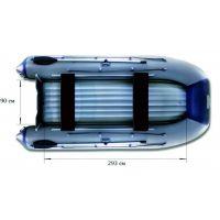 Надувная моторная лодка ФЛАГМАН 400 U Серо-синяя