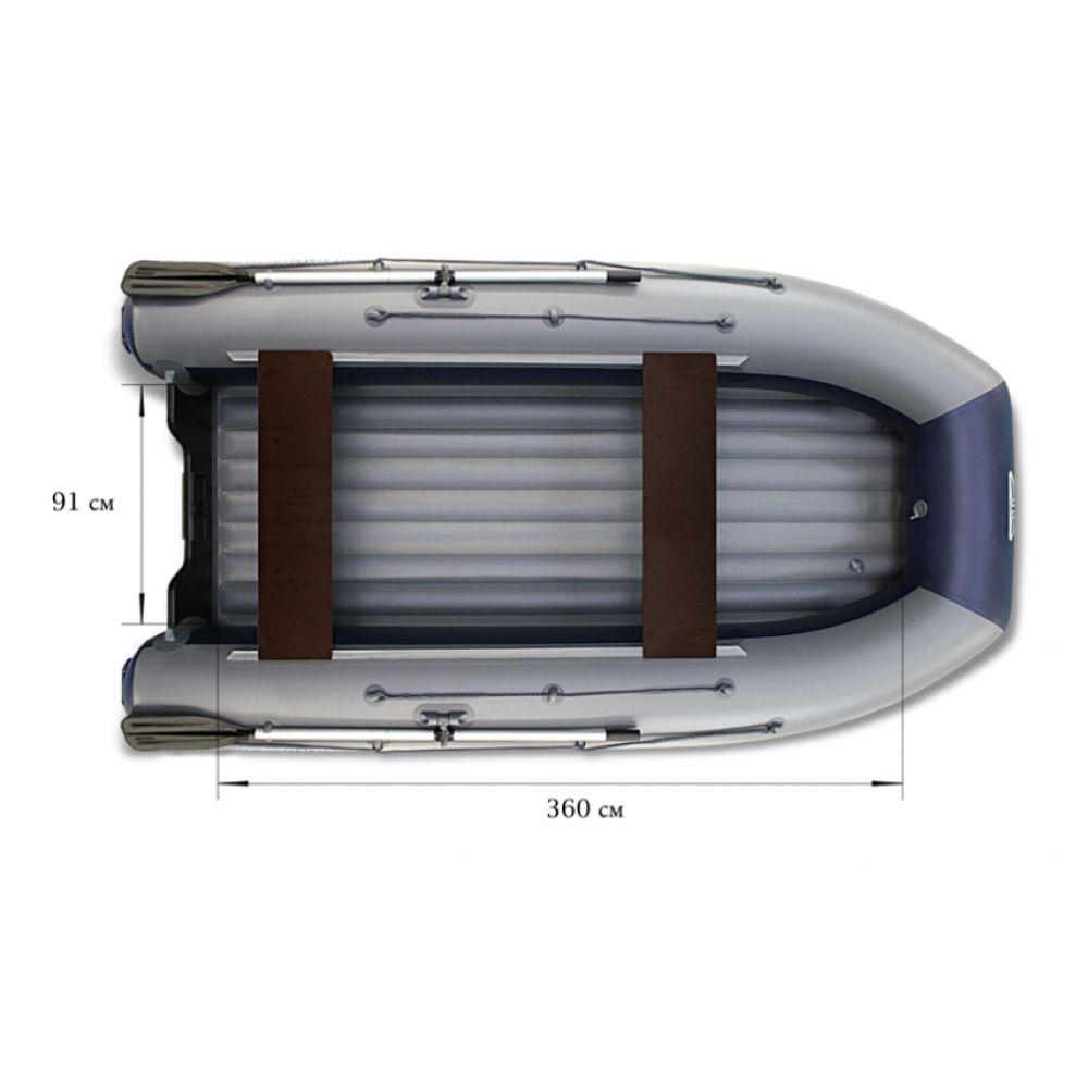 Двухкорпусная надувная лодка ФЛАГМАН DK 420 Серо-синяя