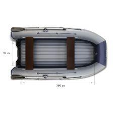 Водометная надувная лодка ФЛАГМАН DK 420 Jet Серо-синяя
