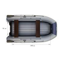 Двухкорпусная надувная лодка ФЛАГМАН DK 450 Серо-синяя