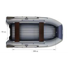 Водометная надувная лодка ФЛАГМАН DK 450 Jet Серо-синяя