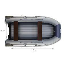 Двухкорпусная надувная лодка ФЛАГМАН DK 500 Серо-синяя