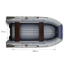 Двухкорпусная надувная лодка ФЛАГМАН DK 550 Серо-синяя