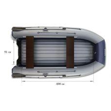 Водометная надувная лодка ФЛАГМАН DK 550 Jet Серо-синяя