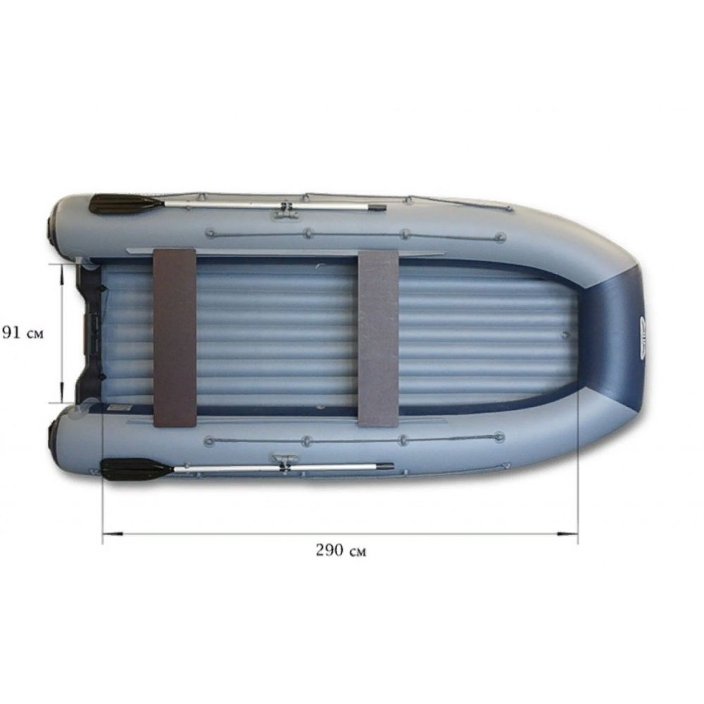 Аэролодка ФЛАГМАН DK 350 AIR Серо-синяя