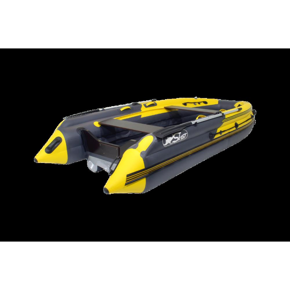 Лодка надувная моторная SKAT Тритон 390 с интегрированным фальшбортом (Скат 390NDFi)