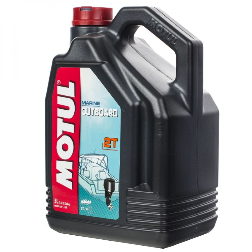 Масло для 2-тактных моторов Motul Outboard, TC-W3, 5 л