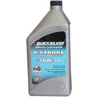 Минеральное масло Quicksilver 10W-30 для 4-тактных подвесных моторов, 1 л
