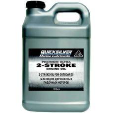 Масло моторное полусинтетическое для лодочного мотора Quicksilver 2-stroke Premium Ultra TC-W3 10 литров
